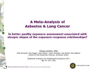 A Meta-Analysis of Asbestos & Lung Cancer