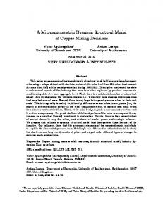 A Microeconometric Dynamic Structural Model of Copper Mining Decisions