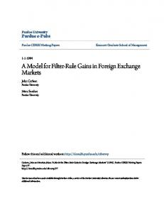 A Model for Filter-Rule Gains in Foreign Exchange Markets