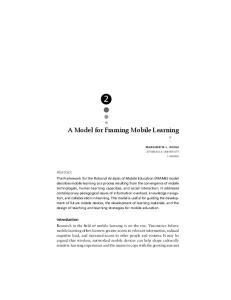 A Model for Framing Mobile Learning