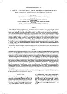 A Model for Understanding SMEs Internationalization in Emerging Economies