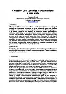 A Model of Goal Dynamics in Organizations: a case study
