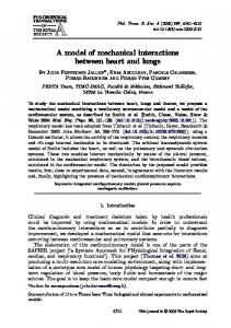 A model of mechanical interactions between heart and lungs