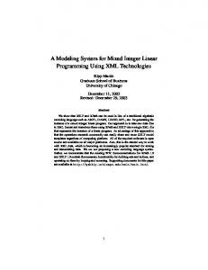 A Modeling System for Mixed Integer Linear Programming Using XML Technologies
