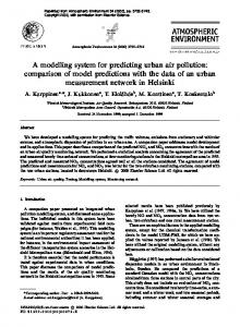 A modelling system for predicting urban air pollution: comparison of model predictions with the data of an urban measurement network in Helsinki
