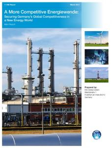 A More Competitive Energiewende: Volume Securing 1 Germany s Global Competitiveness in a New Energy World