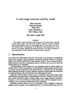 A multi-stage uncertain-volatility model
