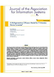 A Multigeneration Diffusion Model for IT-Intensive Game Consoles*