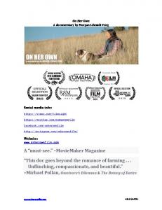 A must- see. MovieMaker Magazine