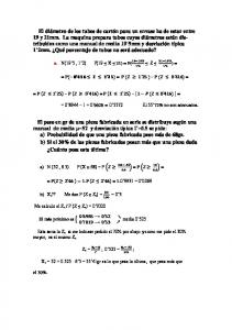 a. N(19 5, 1 2) P(19 X 21) = P( Z ) = = P = P P = = P P = P = = = El 55 72% no son adecuados