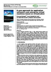 A new approach for application software s and enterprise virtual machines based on virtualization