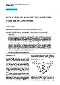 A NEW APPROACH TO MODELING VERTICAL STIFFNESS