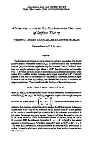 A New Approach to the Fundamental Theorem of Surface Theory