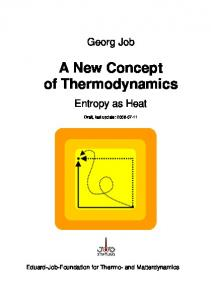 A New Concept of Thermodynamics