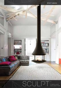 a new dimension in fireplace design