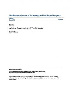 A New Economics of Trademarks