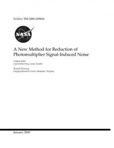 A New Method for Reduction of Photomultiplier Signal-Induced Noise