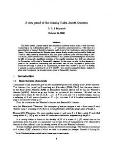 A new proof of the density Hales-Jewett theorem
