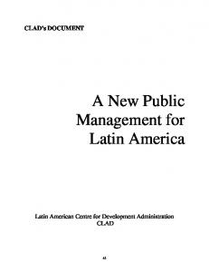 A New Public Management for Latin America