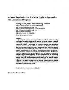 A New Regularization Path for Logistic Regression via Linearized Bregman