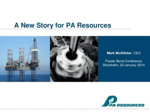 A New Story for PA Resources