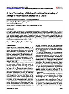 A New Technology of Online-Condition Monitoring of Energy Conservation Generation & Loads