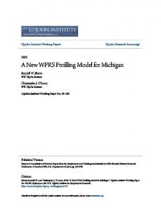 A New WPRS Profiling Model for Michigan