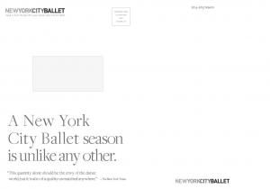 A New York City Ballet season is unlike any other