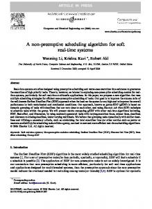 A non-preemptive scheduling algorithm for soft real-time systems