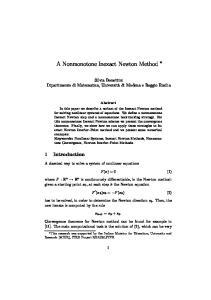 A Nonmonotone Inexact Newton Method