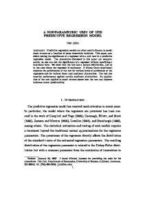 A NONPARAMETRIC TEST OF THE PREDICTIVE REGRESSION MODEL