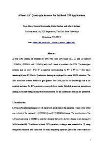 A Novel 1.5 Quadruple Antenna for Tri-Band GPS Applications