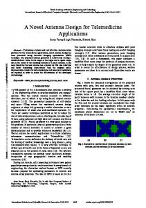 A Novel Antenna Design for Telemedicine Applications