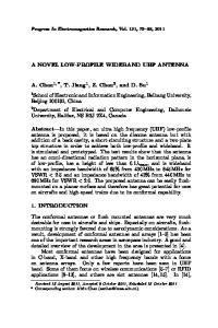 A NOVEL LOW-PROFILE WIDEBAND UHF ANTENNA