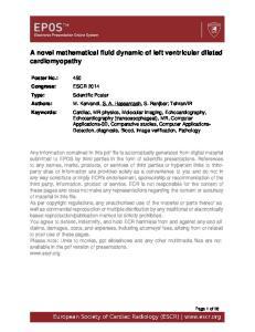 A novel mathematical fluid dynamic of left ventricular dilated cardiomyopathy