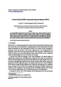 A Novel Parallel JPEG Compression System Based on FPGA