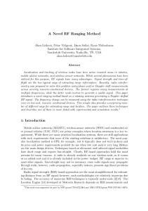 A Novel RF Ranging Method