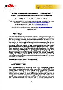 A One-Dimensional Flow Model of a Flashing Black Liquor Gun: Study of Vapor Generation Sub-Models