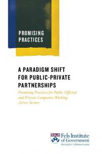 A paradigm shift for public-private partnerships