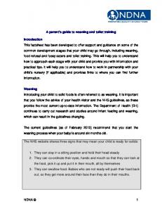 A parent s guide to weaning and toilet training