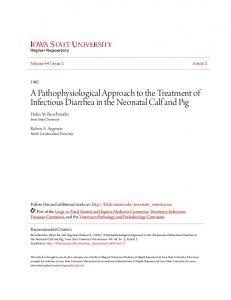 A Pathophysiological Approach to the Treatment of Infectious Diarrhea in the Neonatal Calf and Pig
