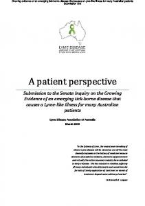A patient perspective
