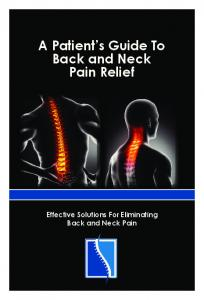 A Patient s Guide To Back and Neck Pain Relief