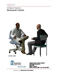 A Patient s Guide to Rheumatoid Arthritis