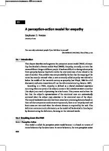 A perception-action model for empathy