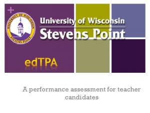 A performance assessment for teacher candidates