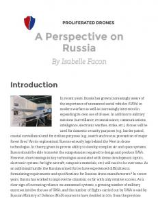A Perspective on Russia
