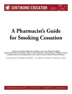 A Pharmacist s Guide for Smoking Cessation