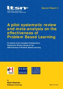 A pilot systematic review and meta-analysis on the