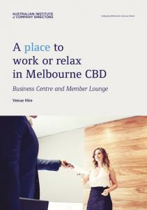 A place to work or relax in Melbourne CBD